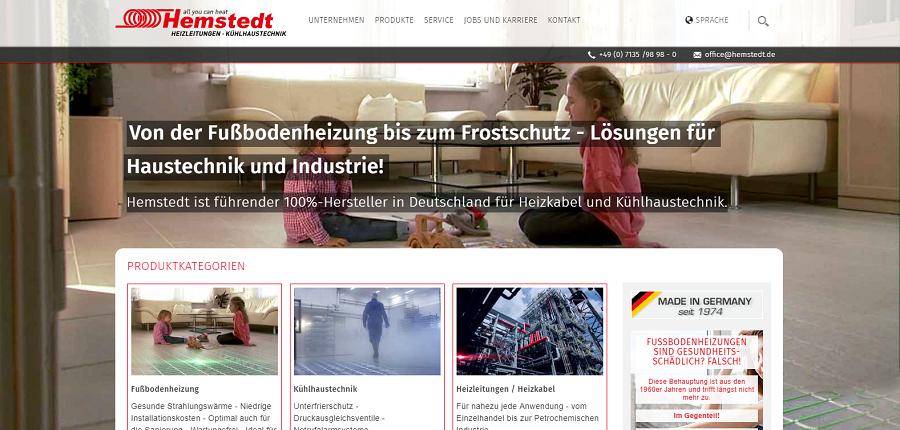 Hemstedt сайт