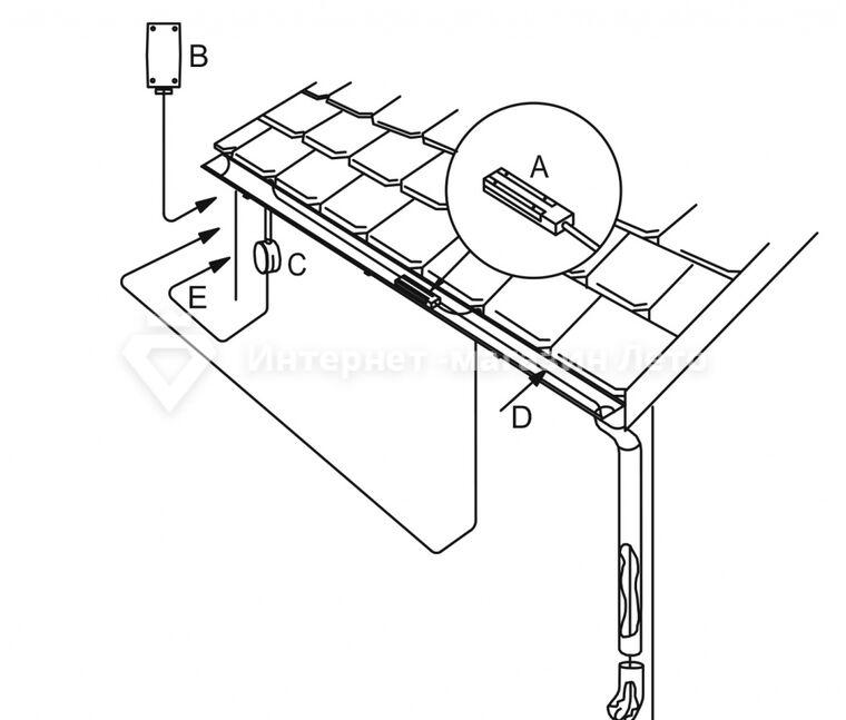 Установка датчика влажности ETOR-55 OJ в желоб и водосток