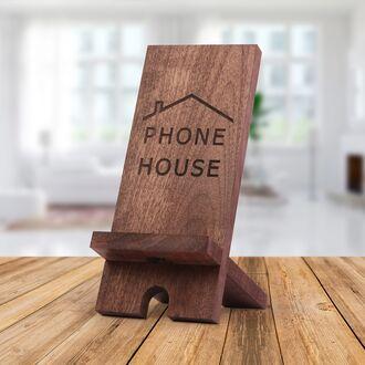 Деревянная подставка держатель для телефона и планшета WoodsTime