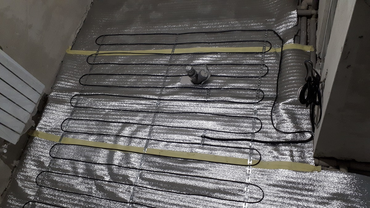 Двухжильный нагревательный кабель в стяжку